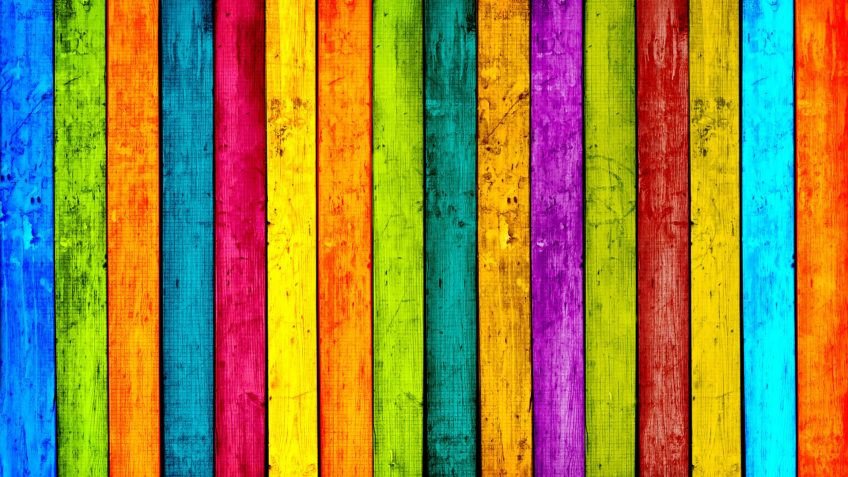 Colorful Wood Planks Background